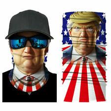 Motorcycle Bike Rider Balaclava Scarf USA Trump Face Neck Gaiter Face Cover