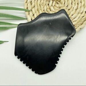 100% Natural Large Bian Stone Gua Sha Claw Shape Black Body Gua Sha Massage Tool