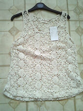Women's Sleeveless Lace Classic Vest Top, Strappy, Cami Tops & Shirts