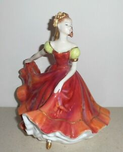 Royal Doulton 'Ninette' Figure in Red Dress ~ HN 3417 (Boxed)