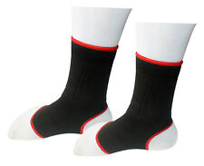 Ankle Support Protection Sport Sock Running Injury Sprain Black/Red JUNIOR