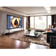 """120"""" Aluminum Fixed Frame 16:9 Projector Screen Velvet Matte White Home Theater"""