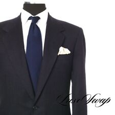Oxxford Clothes Custom Made Fawnskin S100s Midnight Blue Jacket Sport Coat NR