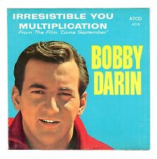 Bobby Darin 1961 Atco 45rpm (Pix Sleeve ONLY) Irresistible You / Multiplication