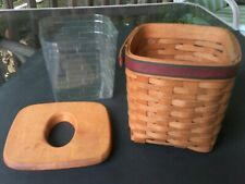 New listing Vintage Longaberger Father's Day Tissue Collector's Basket 1994 w/ protector