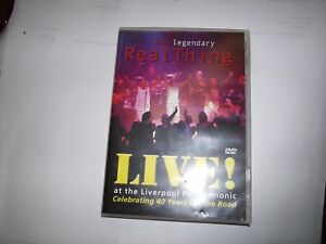 THE REAL THING SIGNED LIVE DVD. AT THE LIVERPOOL PHILHARMONIC. 70S/80S POP