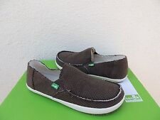 SANUK BROWN ROUNDER HOBO HEMP SIDEWALK SURFER SHOES,  MENS US 9/ EUR 42 ~NWT