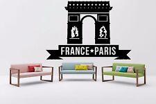 Wall Vinyl Sticker Decal Skyline Horizon Panorama City France Paris World F1858
