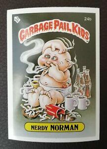 Nerdy Norman 24b UK Garbage Pail Kids Series 1(1985)Topps~NMT/MINT~Pack Fresh