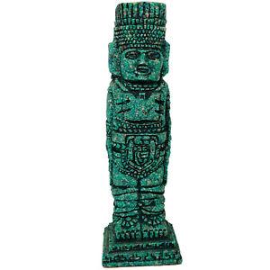 Vintage Mexican Aztec Sculpture Statue Crushed Malachite Ancient God Totem