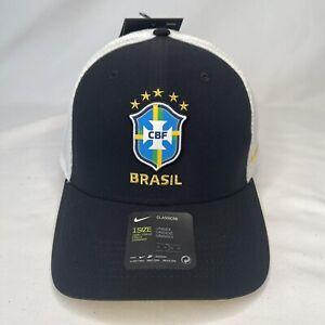 Nike Brazil Brasil AB99 2020 Soccer Adjustable Trucker Hat Cap Black Brand NEW