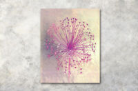 """Abstract 16X20"""" CP Print WAll Oil Painting on CAnvas Artwork Purple Dandelion"""