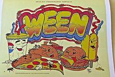 Ween Mini-Concert Poster Reprint No 2 2010 Sayreville NJ Performance 14x10