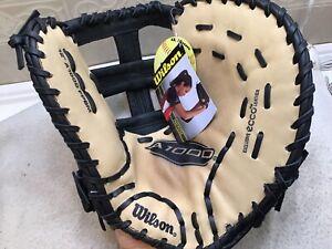 """Wilson A1000 FPBM 12.75"""" Womens Fastpitch Softball First Base Mitt Right Throw"""