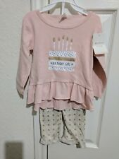 Baby girl 2 piece pink 1st Birthday girl set size 12 months