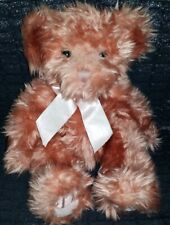 """Vintage Russ """"Bears from the Past"""", stuffed teddy bear, Marmalade, pink, 9"""" long"""