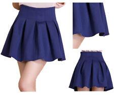 High Waist Mini Solid Regular Size Skirts for Women