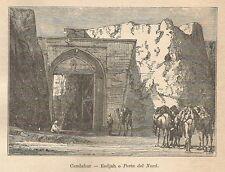 A9843 Kandahar - Eedjah - Xilografia - Stampa Antica del 1906 - Engraving