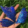 UK Natural Quartz Crystal Rainbow Titanium Cluster VUG Mineral Specimen Healing*
