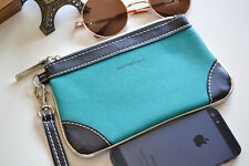 Celeb Style ZARA Basic Clutch Hand Bag Faux Leather Tiffany Blue Wallet Womens