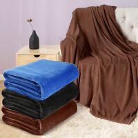 Super Soft Flannel Fleece Blanket Lightweight Bed Warm Bedding Twin Size 60x80