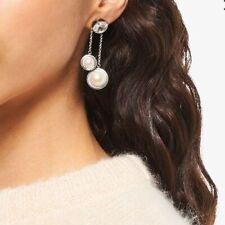 Miu Miu crystal pearl earrings