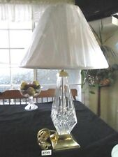 """RARE STUNNING WATERFORD LISMORE TABLE LAMP&SHADE, 27"""" BASE- FINIAL, XLNT COND."""