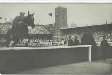 Stockholm 1912 Olympics Official photographic card Nr 259 Russian Horse Jumping