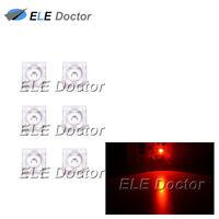 100pcs 5mm Piranha Super Flux Orange Light 4Pin Round Top LED Diodes 595-610nm