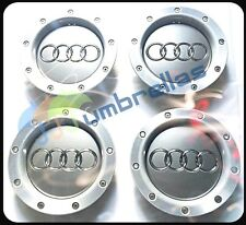 X 4 AUDI 146mm CENTER WHEEL HUB CAPS BADGES A2 A3 A4 A6 S6 RS6 TT, 8D0601165K
