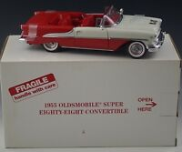 DANBURY MINT 1955 OLDSMOBILE SUPER EIGHTY EIGHT CONVERTIBLE 1:24 SCALE DIE CAST