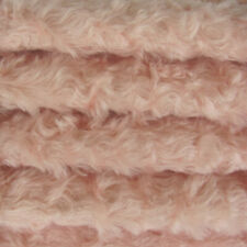 """1/4 yd 785S/C Pale Pink INTERCAL 3/4"""" Med. Dense Curly German Mohair Fabric"""