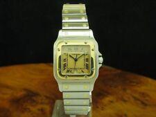 Cartier Santos Galbee 18kt Gold / Edelstahl Unisexuhr / Ref 187901 / Kaliber 87