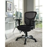 Modern Adjustable Ergonomic Mesh MidBack Computer Desk Office Chair in Black