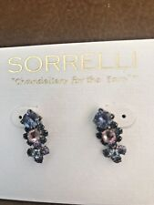 NEW RETIRED SORRELLI LAVENDER AND BLUE EARRINGS, NWOT