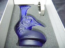 "Lalique Crystal Blue Peacock Head ""Tete De Paon"" ~Brand New in Box~ $1085.00"