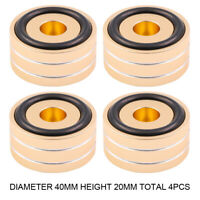 4PCS 40*20mm Aluminum Speaker Turntable Isolation Stand Feet DAC CD AMP Mat Pad