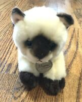 Miyoni by Aurora Realistic Siamese Kitten Plush Cat Stuffed Animal Blue Eyes 8""