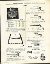 1943 ADVERT Keystone Store Display Rack Stand Hand Saw Saws Disston