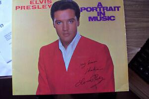 ELVIS PRESLEY RARE RECORD ALBUM AUTOGRAPH SIGNED A PORTRAIT IN MUSIC MINT NEW