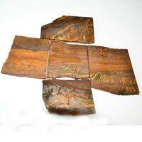Natural iron tiger eye Rocks Mineral Specimen Slice Facet Rough Gemstone
