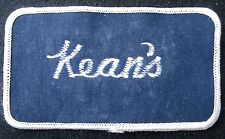KEANS EMBROIDERED SEW ON PATCH UNIFORM RENTAL LAUNDRY BATON ROUGE ADVERTISING