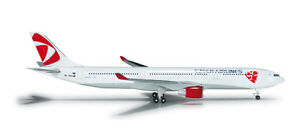 Herpa 524520 CSA Czech Airlines Airbus A330-300 1:500 Scale Diecast New in Box