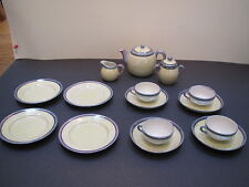Vintage Japan childs lustreware 17 pc tea set W teapot and creamer & sugar set