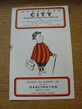 23/12/1967 Bradford City v Darlington  (Rusty Staple/Mark). Item In very good co