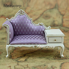 1/12 scale doll house miniature furniture white Hand gilt Telephone chair