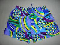 vintage ARIELLA sunfashion nylon shorts 80s deadstock Badeshorts crazy pattern