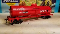 HO Athearn MKT Katy 40' tank car new rtr series metal wheels red