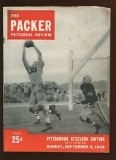 September 5 1948 1948 NFL Program Pittsburgh Steelers at Green Bay Packers VG