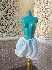 White Knickers Underwear Shorts Bloomers Pantaloons Barbie Doll Disney Princess